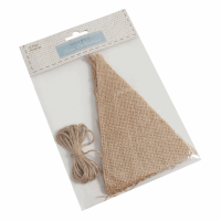 Make-Your-Own Bunting Kit: Hessian: Natural