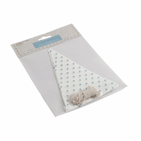 Make-Your-Own Bunting Kit: White with Blue Spot