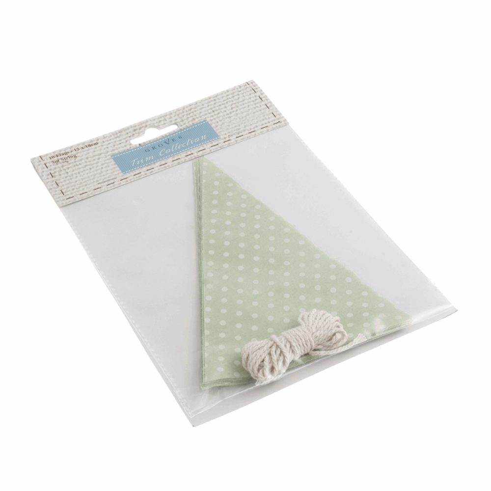 Make-Your-Own Bunting Kit: Green with White Spot