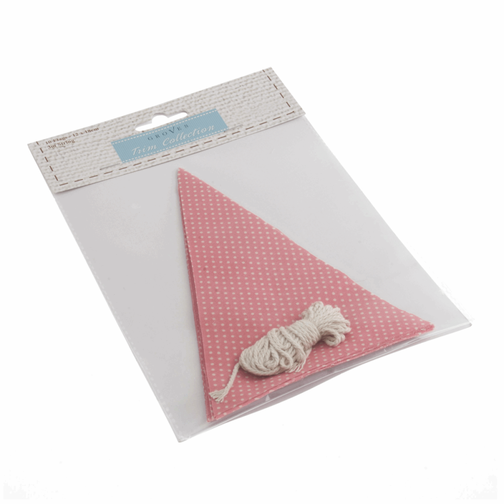 Make-Your-Own Bunting Kit: Pink with White Spot