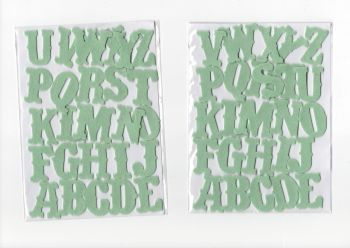 3 cm Felt Alphabet sets, Mint Green