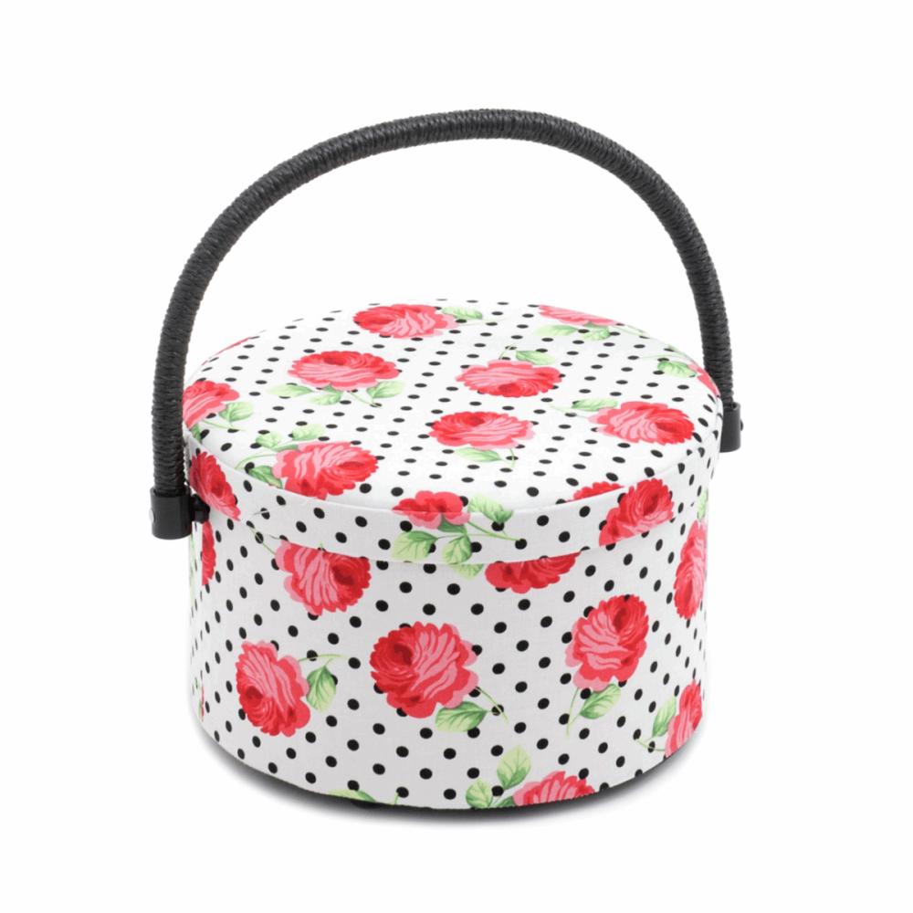 Round Sewing Box, Scarlette Design