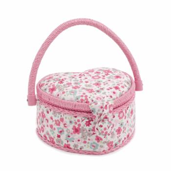 Small Sewing Box: Heart: Confetti Raspberry