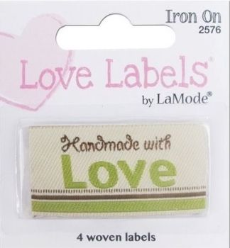 Love Labels by La Mode.Hand Made with Love