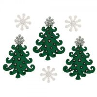 Dress It Up Buttons - Whimsical Christmas