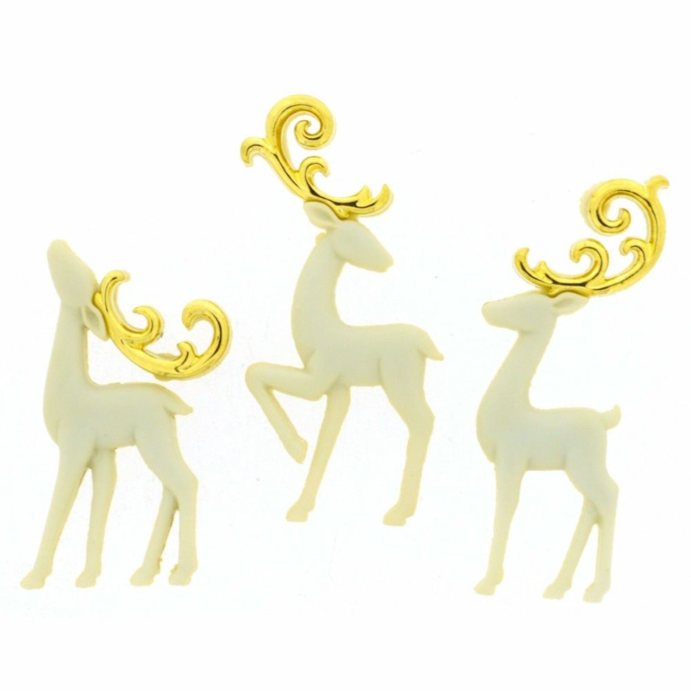 Dress It Up Buttons - Majestic Reindeer