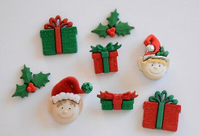 Dress It Up Buttons -Holiday Elves
