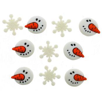 Dress It Up Buttons -Snowman Faces