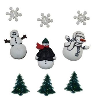 Dress It Up Buttons -Snowy Friends