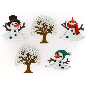 Dress It Up Buttons -Snow Don't Go