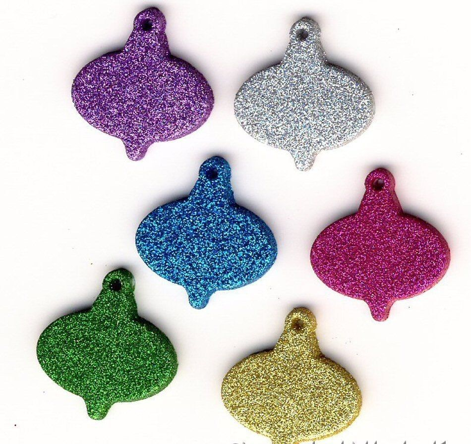 Dress It Up Buttons -Glitter Ornaments