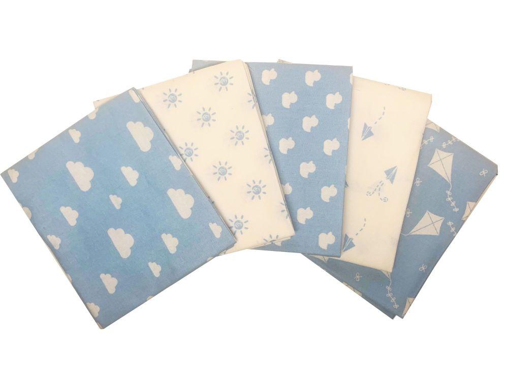 Nursery Basic Blue - 100% Cotton Fat Quarters