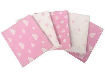 100% Cotton Fat Quarters-Nursery Basics Pink