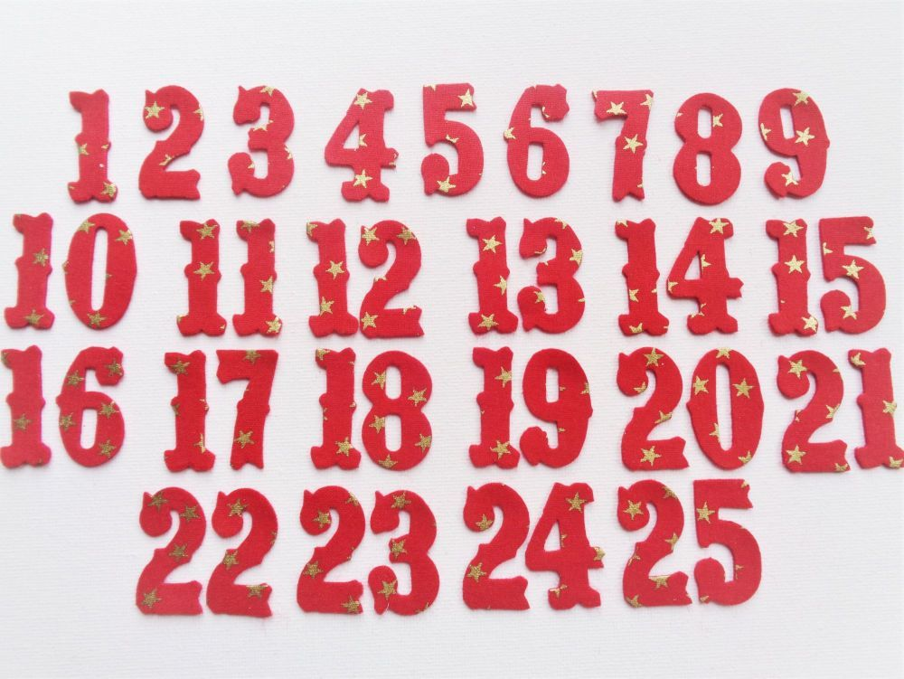 Advent Calendar Numbers.
