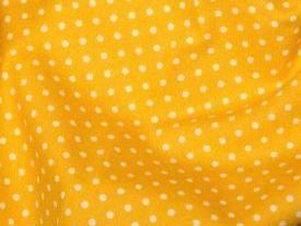 Yellow 3 mm polka dot fabric