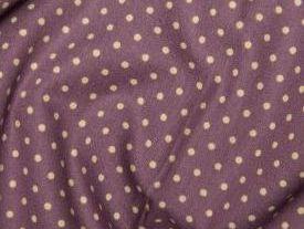 Purple100% Cotton fabric 3 mm polka dot