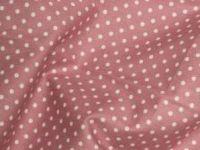 Dusky Pink 100% Cotton fabric, 3 mm polka dot