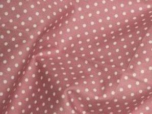 Dusky Pink 100% Cotton fabric, 3 mm polka dot