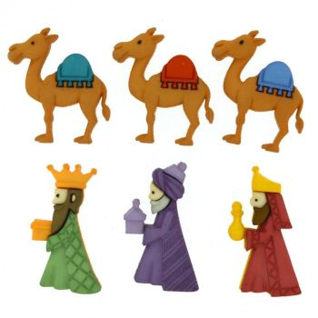 Dress it Up buttons- We Three Kings