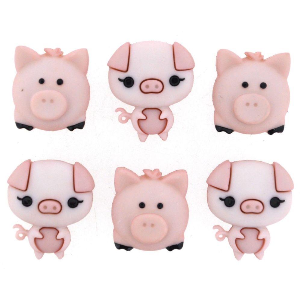 Dress It Up Buttons - Pig Pen