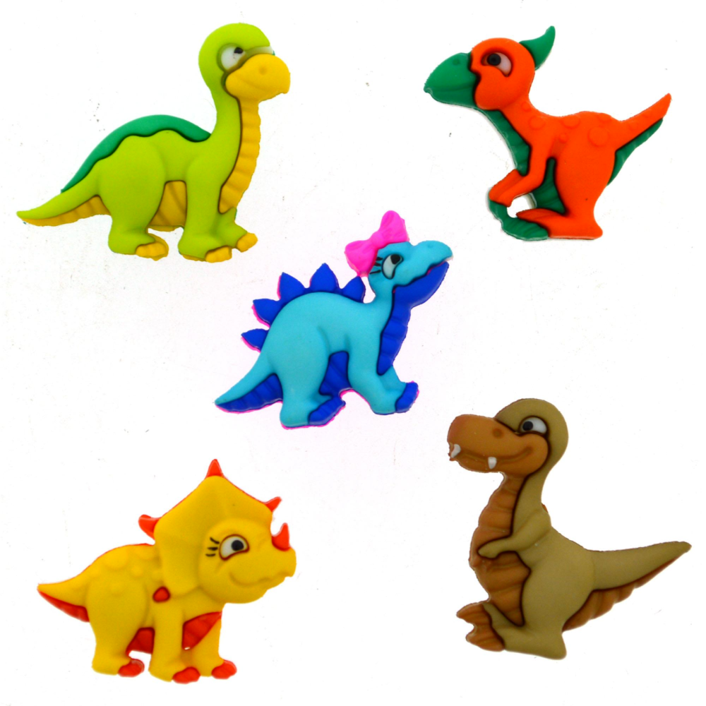 Dress It Up Buttons -  Dino Mite