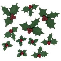 Dress It Up Buttons - Holly Jolly Christmas