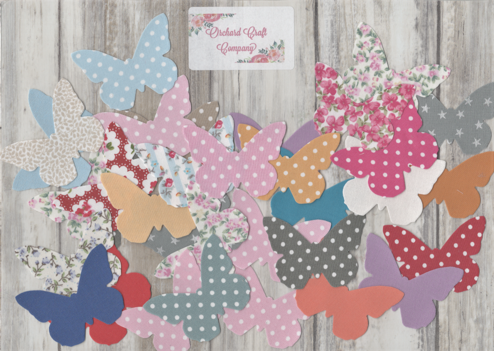 Iron On Butterflies  (Pack of 50) Sewable or No Sew options