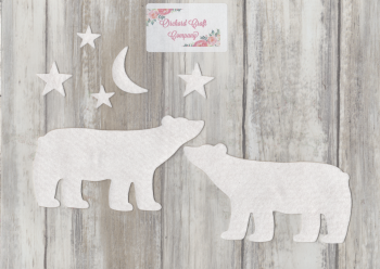 Polar Bears x  4  Felt/Self Adhesive Felt