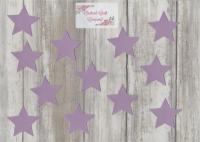 Fabric Iron On Stars Set of 12, Plain Colours