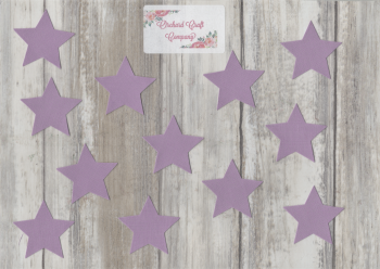 Fabric Iron On Stars Set of 12, Plain Colours