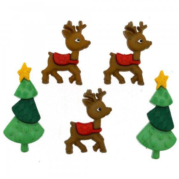 Dress It Up Buttons - Reindeer Games
