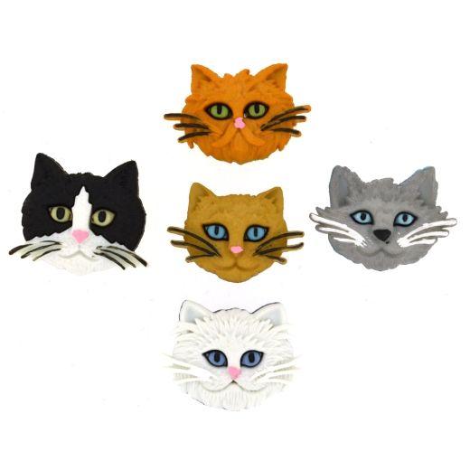Dress It Up - Craft Buttons -Fuzzy Felines