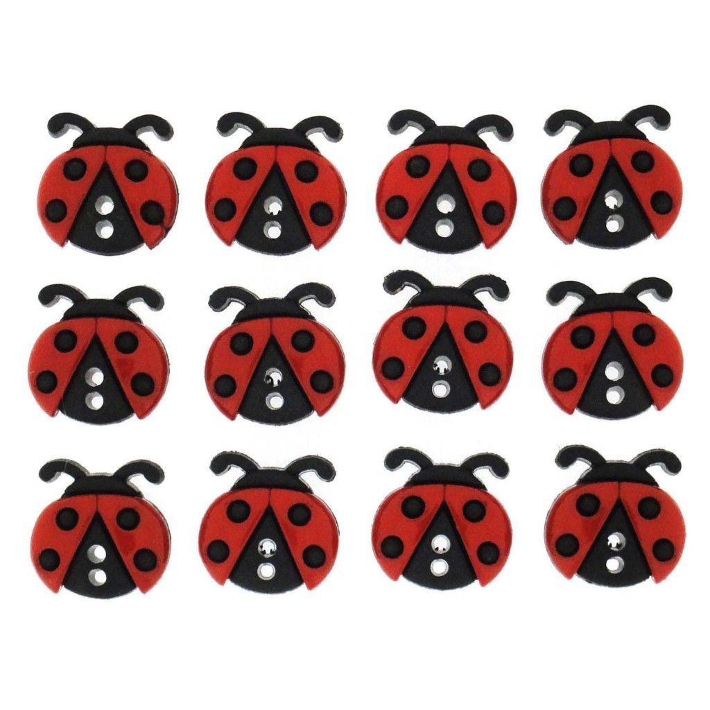 Dress It Up Buttons,Sew Cute Ladybugs, Ladybirds