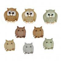 Dress It Up - Whoo, Owl Shape Novelty Buttons