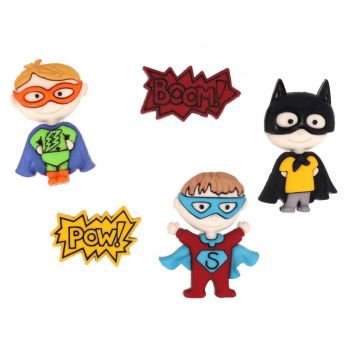 Dress It Up - Craft Buttons -Be My Super Hero