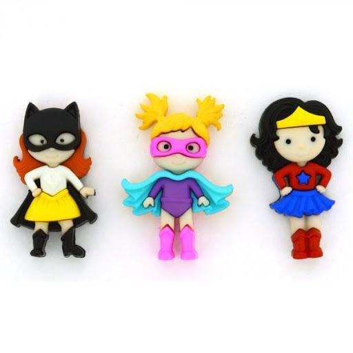 Dress It Up - Craft Buttons -Girl Power