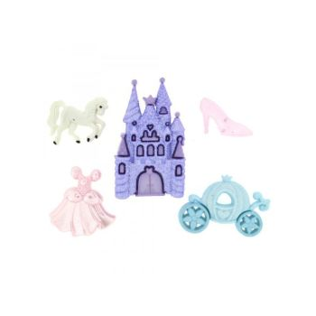 Dress It Up - Happily Ever After, Cinderella Themed Buttons