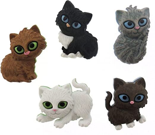 Dress It Up - Craft Buttons -Kitten Kaboodle