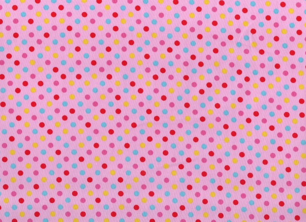 Dotty Fabric Light Pink Background