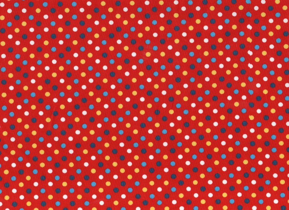 Dotty Fabric Red Background