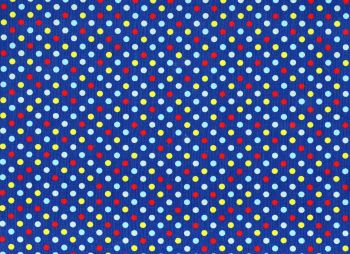 Dotty Fabric Royal Blue Background