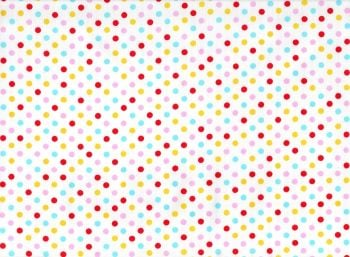 Dotty Fabric White Background