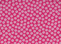 Bright Pink 100% Cotton fabric, Floral