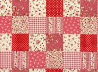 Cotton Fabric Patchwork, Red