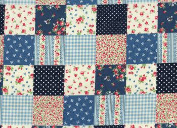 Cotton Fabric Patchwork, Blue