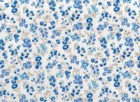 Cotton Fabric Dark Blue Floral