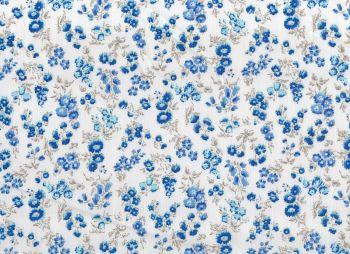 Cotton Fabric Dark Blue Floral