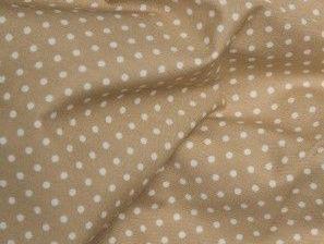 Cotton Fabric Natural Vintage, Beige  3mm Polka Dot