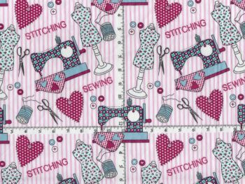 Cotton Fabric Sewing Theme