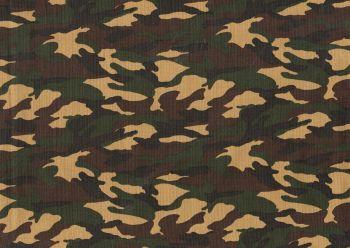 Cotton Fabric Woodland Camouflage,